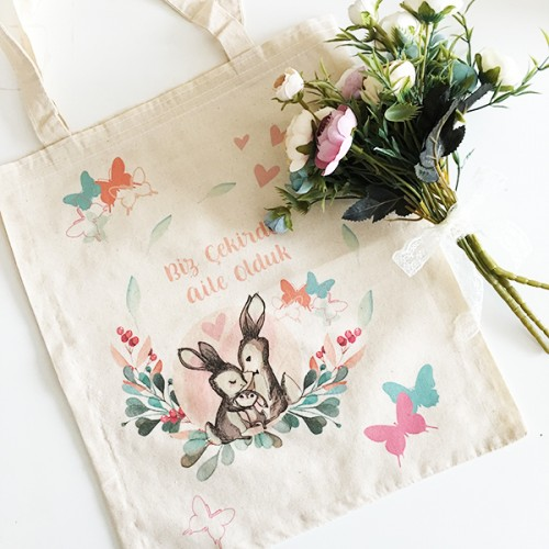 Tavşanlı Çekirdek Aile Bez Çanta