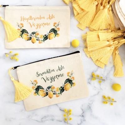 Limon Temalı Hediyelik Cüzdan