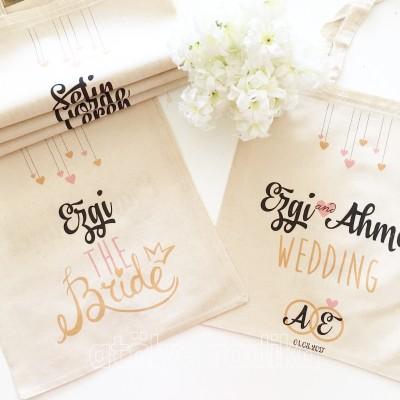 Wedding Temalı Hediyelik Bez Çanta