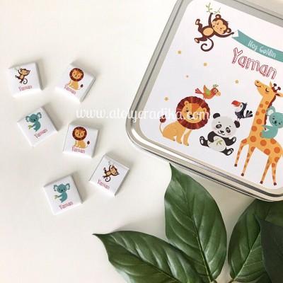 Animals Temalı Çikolata Kutusu / 1 KG
