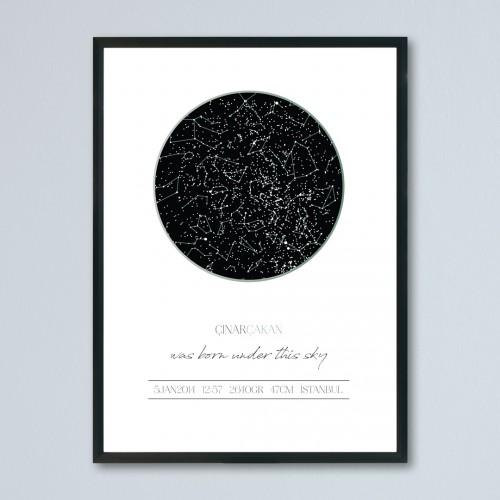 Klasik Gökyüzü Haritası Posteri